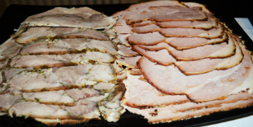 Porchetta and ham